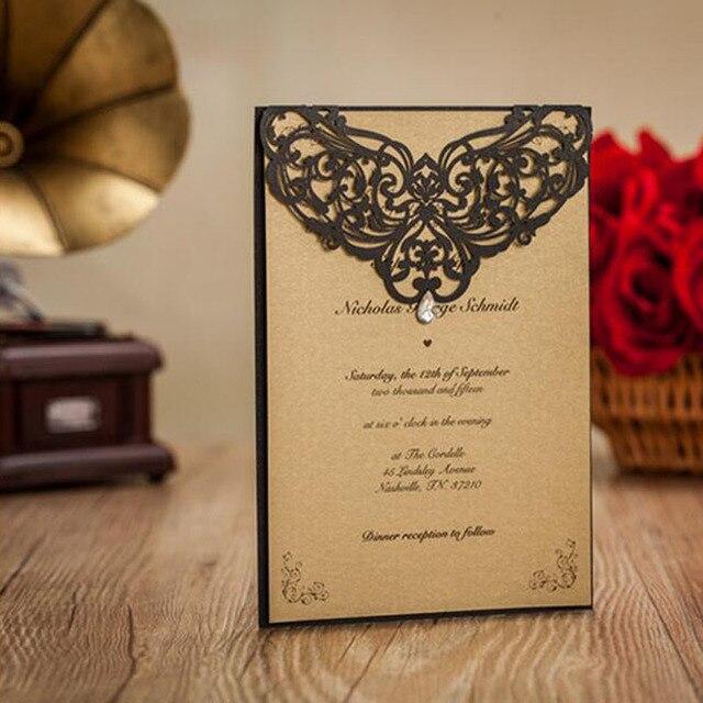 100pcs hollow flower laser cut wedding invitation card greeting card 100pcs hollow flower laser cut wedding invitation card greeting card personalized custom print wedding event party stopboris Gallery