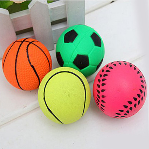 Lovely Durable Basketball/Soccer etc Shape Solid Small Bouncy Ball Dog Training Chewing Playing Pet Toys