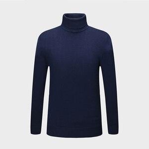 Image 5 - חדש סתיו חורף אופנה מותג בגדי גברים של סוודרים חם Slim Fit גולף גברים בסוודרים 100% כותנה סרוג סוודר גברים
