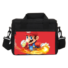 VEEVANV Thermal Lunch Bags Super Mario Girls School Lunch Box Insulated Picnic Cooler Bags Women Portable Food Storage Container