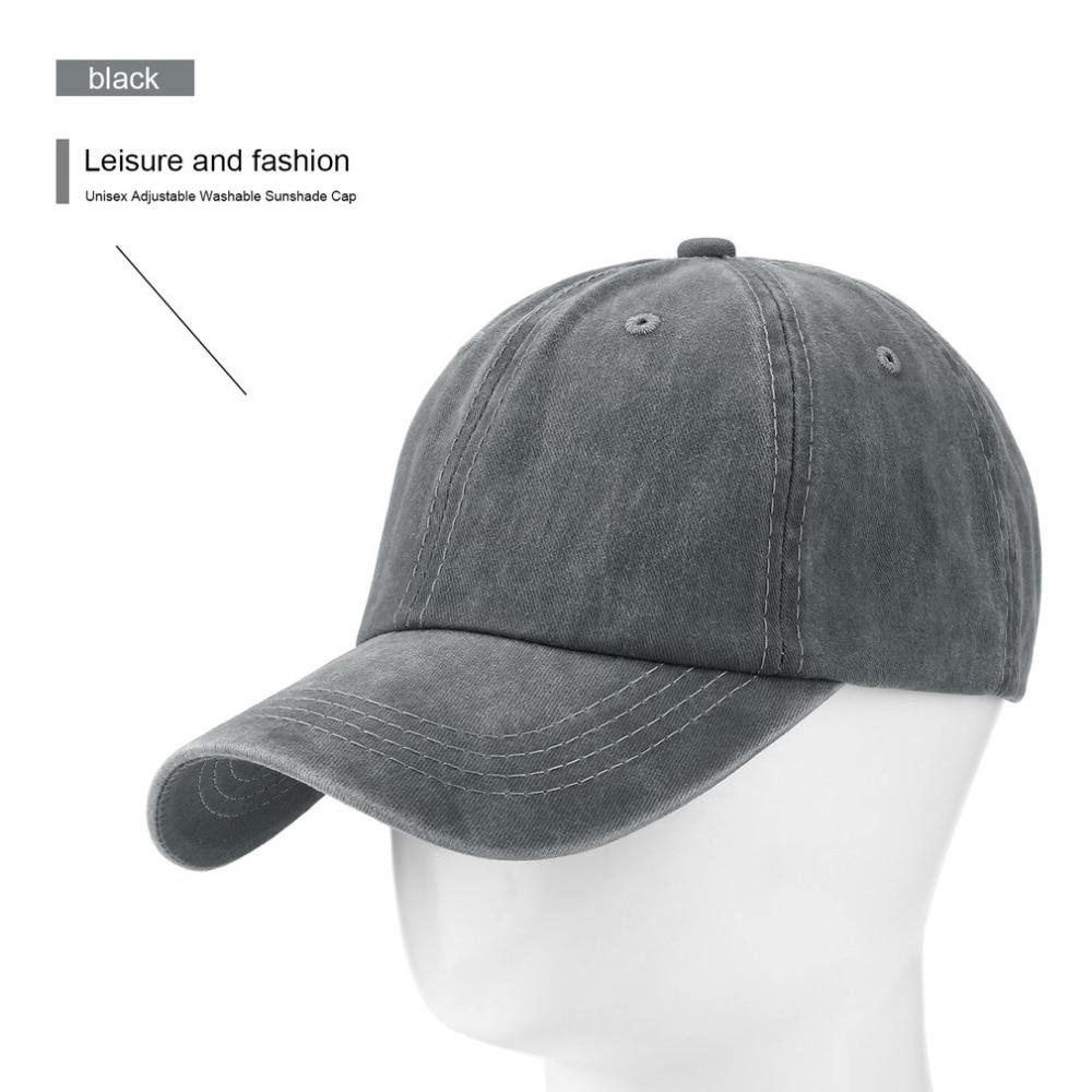 8778b16dc50974 Unisex Baseball Caps Good Quality Adjustable Hats Grey Casquette ...
