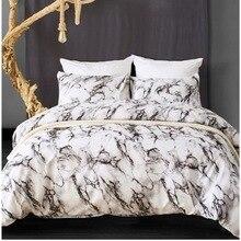 Heat Sell Comforter Bedding Sets Article Marble Decorative Pattern Pure Plain Colour Quilt Cover Sheet Bedclothes 3Pcs