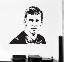 Barcelona Lionel Messi Wall Decal Vinyl Art Football Soccer Player Stickers Kids Nursery Drop Service Waterproof  DIYSYY418
