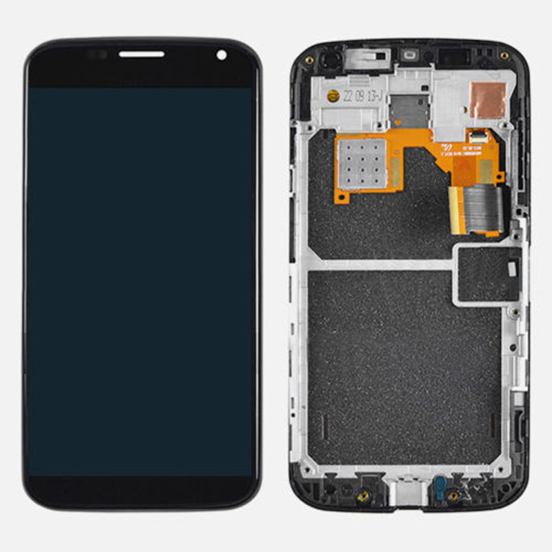 ФОТО LCD Screen Touch Digitizer Assembly With Frame For Motorola Moto X XT1060 XT1058 Black Free Shipping