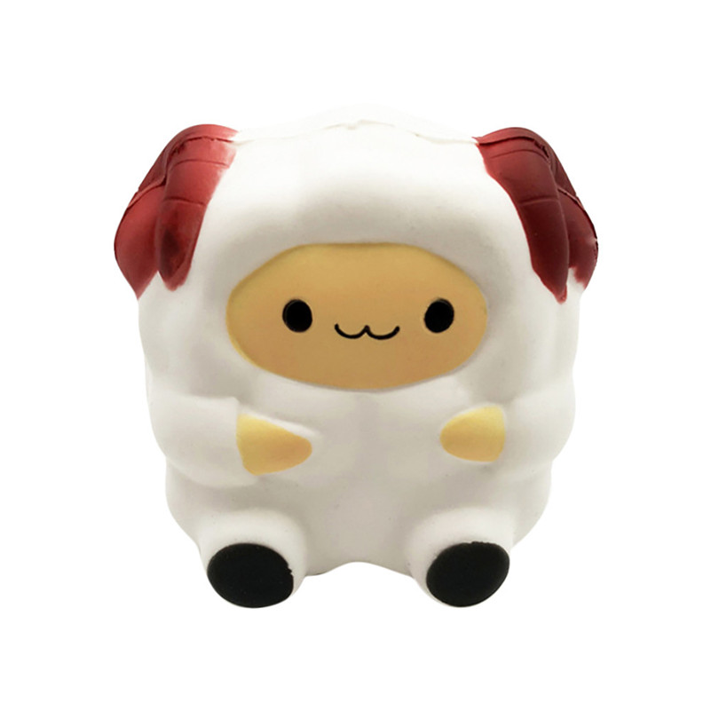 Cartoon Cute Sheep Squishy Slow Rising Cream Scented Decompression Toy Cure Gift Rising Wipes Anti-stress Toys A1