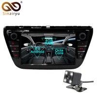 Sinairyu 2Din Android 8,0 Octa Core dvd плеер автомобиля для Suzuki SX4 S Cross 2014 2015 gps Navi мультимедиа радио стерео головного устройства