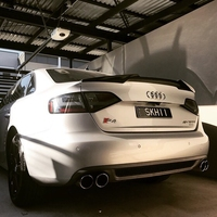 For Audi M4 Style A4 B8 Carbon Fiber Rear Spoiler Trunk wing 2009 2010 2011 2012