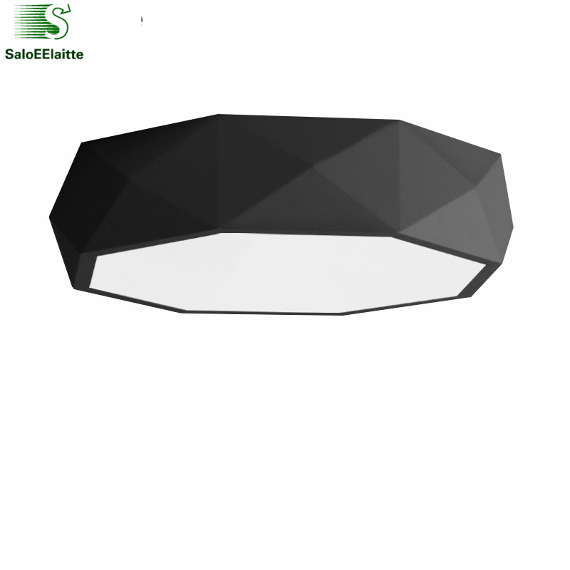 Modern Minimalism Dimmable Led Diamond Metal Ceiling Lamp Remote Control Stepless Dimmable Led Ceiling Light PMMA Mask Light modern minimalism painted metal windmill