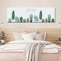 Watercolor Plant Potted Cactus Succulents Unframed Modern Art Poster Print Canvas Painting Print Wall Decor For Room