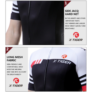 Image 4 - X TIGER lato z krótkim rękawem Pro jazda na rowerze Jersey rower górski odzież Maillot Ropa Ciclismo rower wyścigowy ubrania koszulki