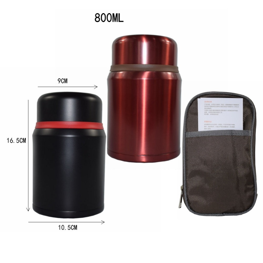 0 8L 304 Stainless Steel Insulated cup Food Container Vacuum cup Lunch Box Thermos for Kids Lunch Box with christmas in Vacuum Flasks Thermoses from Home Garden