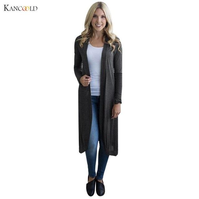 Gray Black Red Cardigan Women Sweater casual Crochet Poncho Coat Women long  Sweaters vestidos Cardigans Jacket drop shipping c82 abb1801f4
