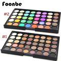 FOONBE 40 Colors Smoky Matte Eyeshadow Mixed Color Baking Powder Eye Shadow Palette Naked Nude Glitter Cosmetic Set