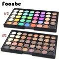 Foonbe 40 colores smoky ojos mate color mezclado polvo de hornear sombra de ojos paleta naked nude brillo cosméticos conjunto