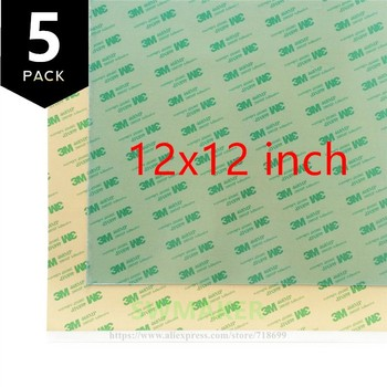 SWMAKER 12x12 inch (i.e 300x300mm ) Replacement PEI Sheet with 468MP adhesive tape for Reprap Prusa i3 MK2/Rework 3D Printer