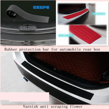 Car Styling Rear Bumper Scuff Protector Cover For BMW X1 X2 X3 G01 F25 E83 X4 G02 F26 X5 F85 F15 E70 X6 F86 F16 E71 Accessories image