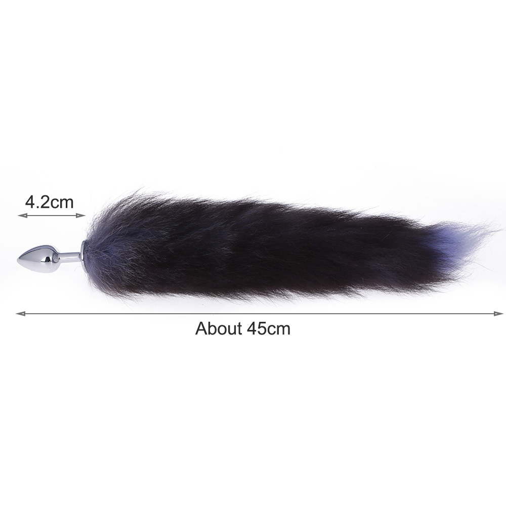 Stainless Steel Faux Fox Tail Toy Stopper Gift Gags /& Practical Jokes Toy Tail