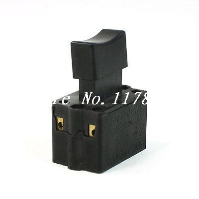 250VAC 10A DPST Momentary Power Tool Trigger Switch for Hand Electric Drill power tool push lock button trigger switch dpst dual pole ac250v 6a