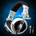 Sômica ST-80 do monitor Profissional fone de ouvido música hifi subwoofer Avançado Super Bass Noise-Isolar DJ fone de ouvido (silver)