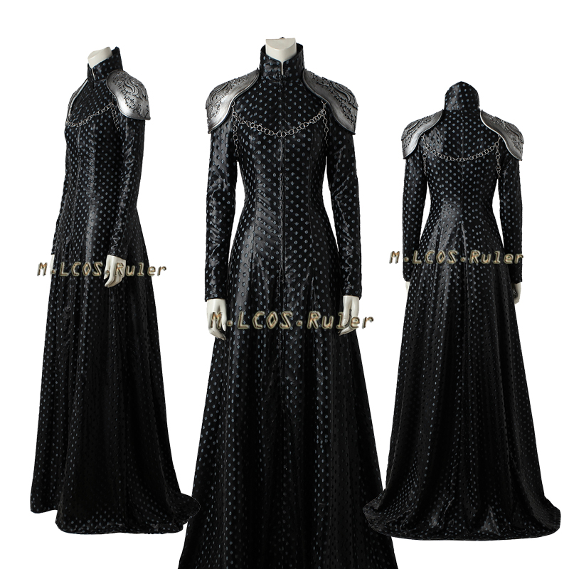 Halloween Cosplay Game of Thrones Season 7 Cosplay Costume Cersei Lannister Cosplay Outfit Women Dress Costume Custom Made