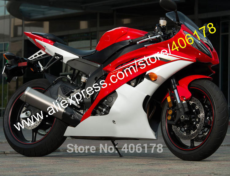 Hot Sales,For Yamaha YZF R6 YZF-R6 YZF YZFR6 2008 2009 2010 2011 2014 2015 2016 YZF600 Red White Fairing Kit (Injection molding) arashi r6 new throttle cable for yamaha yzf r6 2006 2007 2008 2009 2010 2011 2012 2013 2014 2015 2016 stainless rubber cables