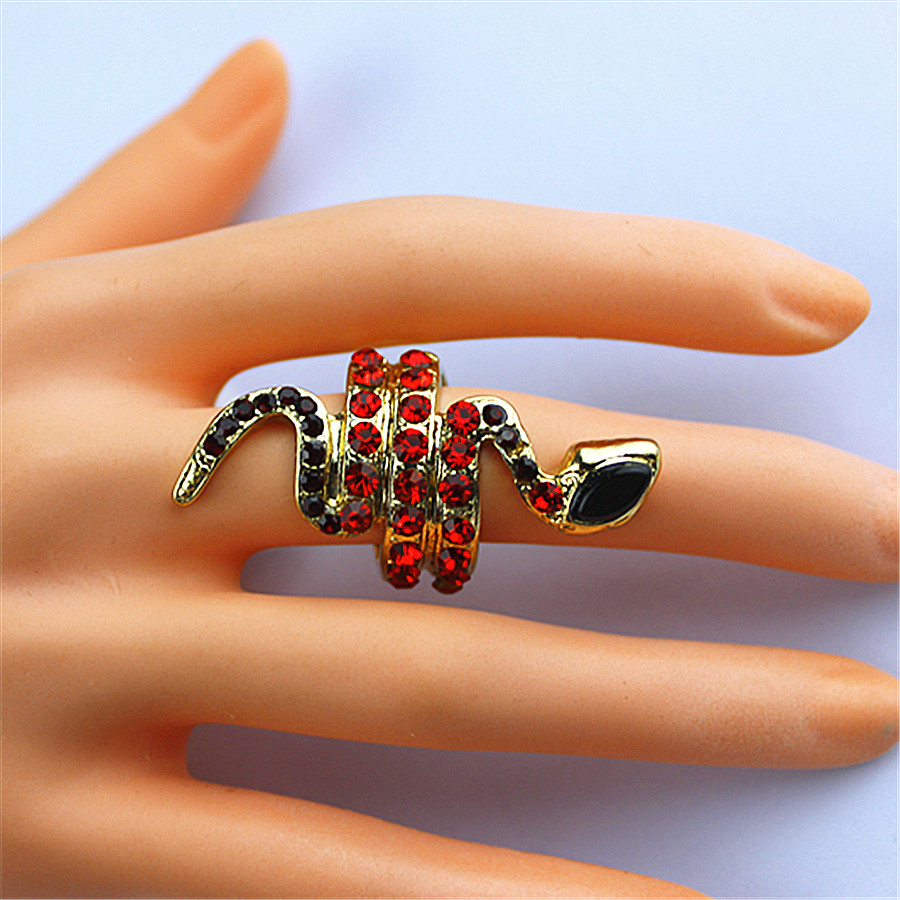 Birthday-Party Gift-Ring Small-Snake Wholesale Fashion Hip-Hop Girl And Black Red Collocation
