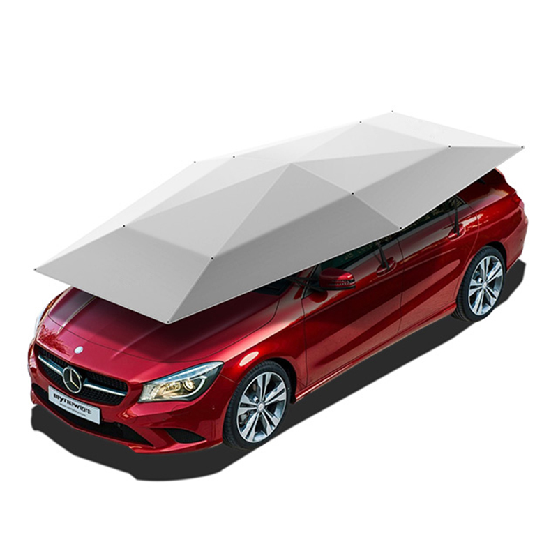 UV protection 4.2M manual semi automatic Car Cover Umbrella Car Sun Shade sun Roof Cover Tent Umbrella car packing Protection