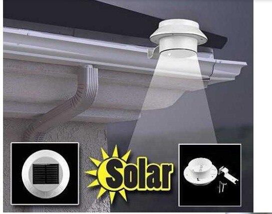 100pcs Wholesales High Quality 3 LED Solar Power Light 0utdoor LED Fence Gutter Garden Yard Wall Pathway Lamp Light Free Fedex