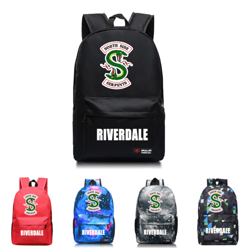 10 Styles Riverdale Backpack School Bag Kids Gift Bag Bags Travel Bag Solid Colors Action Figure Toys For Kid Birthday Gifts lady bug dolls