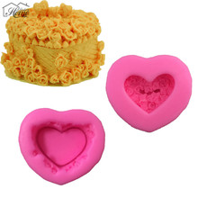 2pcs/set Heart Shaped Music Box Silicone Mold Cake Decorating Tools Pastry Tool Sugarcraft Molds Chocolate Candy Jelly Tools