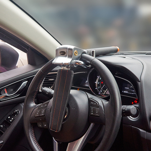 Image 2 - Steering Wheel Lock Foldable Anti Theft Security Car Locks Auto Steering Lock
