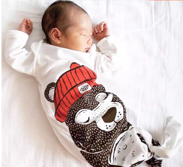 Children's Favorite Kawaii Cartoon Bear Comfortable Cotton Baby Sleeping Bag Envelope Neck  Pajamas Anti Tipi 1pcs