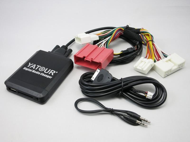 Yatour yt-m07 pour ipod iphone usb sd aux médias numériques changeur pour Nouvelle Mazda 3/5/6 CX5 CX7 RX8 2009 + can-bus Audio De Voiture MP3 lecteur
