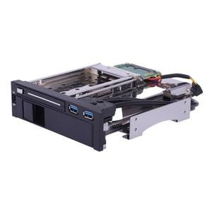 Новый жесткий диск SATA III с двойным разъемом 3,5 дюйма + 2,5 дюйма, лоток SSD для жесткого диска, внутренний корпус для мобильного шкафа с портом USB 3,0, горячий обмен