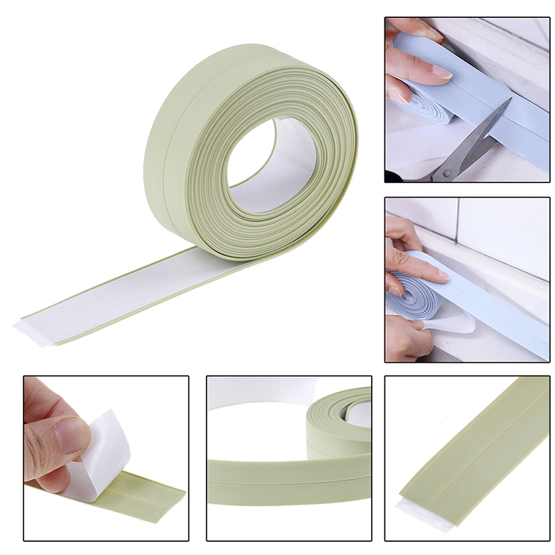 HOT 3.2m*2.2cm Self Adhesive Ceramic Sticker Waterproof Anti-moisture PVC Stickers(China)