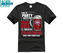 лучшая цена I Like To Drink Beer & Watch My Montreal Canadiens Ice Hockey Shirts