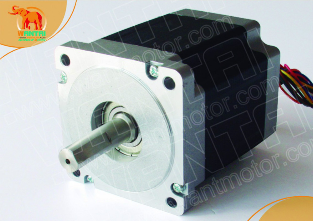 4-Leads Nema 34 Wantai Stepper Motor Single Shaft1090oz-in, 5.6A, 85BYGH450D-008,2 phases, 3D Printer CNC Motor