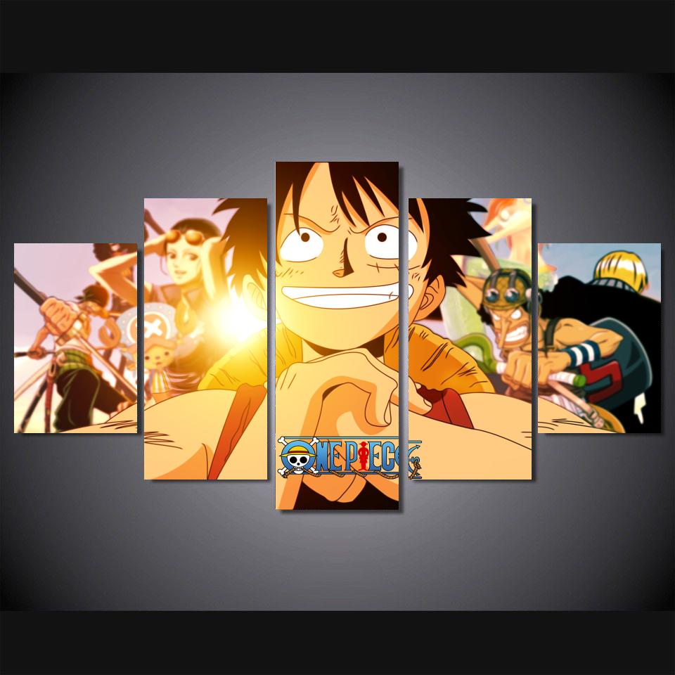 Japan Anime One Piece Modern Home Wall Decor Canvas Picture Art HD Print  Painting Poster 5 Part 52