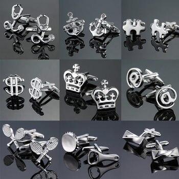 18 wysokiej jakości koszula męska spinki do mankietów nowe mody srebrzyste kotwica statek steru spinki do mankietów laserowe metalowe spinki do mankietów wolne od ładunku