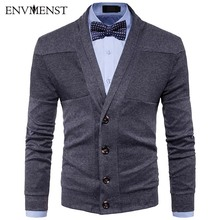 2017 Autumn Men Fashion Sweaters Solid Color Knitted Cardigan Knitting Brand Clothing Man's Single Breasted Knitwear
