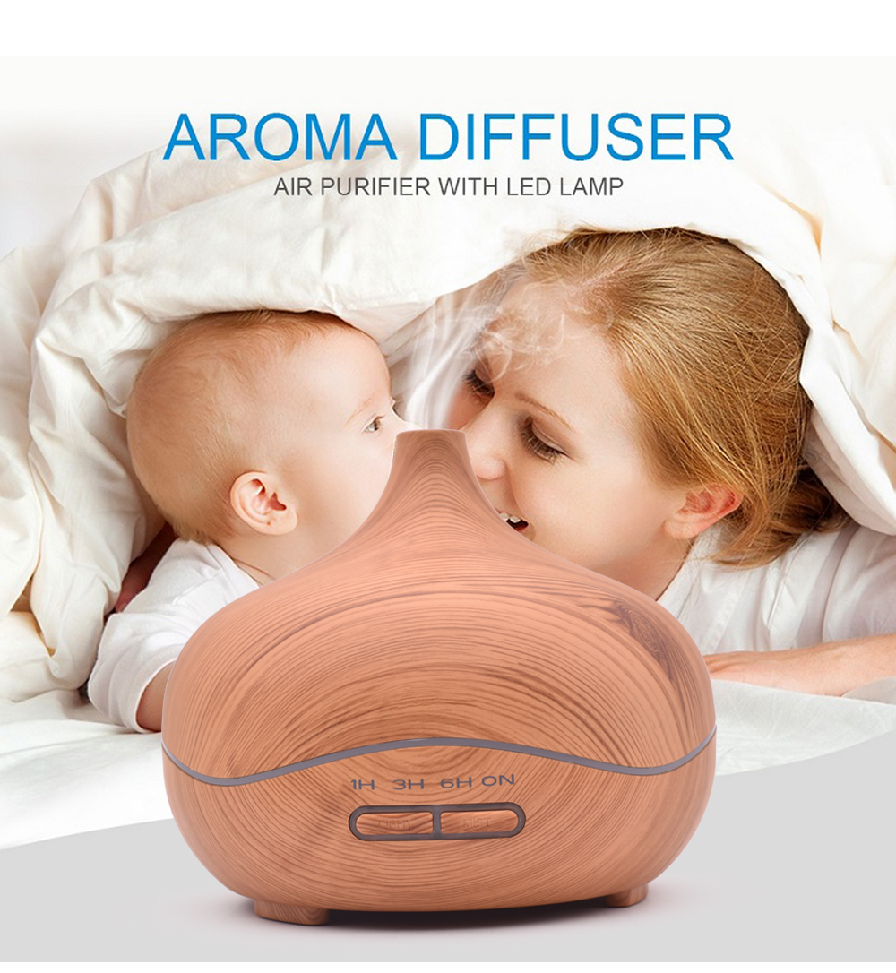 2017 New Air Humidifier Essential Oil Diffuser Aroma Lamp Aromatherapy Electric Aroma Diffuser Mist Maker for Home-Wood new 300ml woodgrain essential oil aroma diffuser aromatherapy humidifier mist maker purifier 3 models