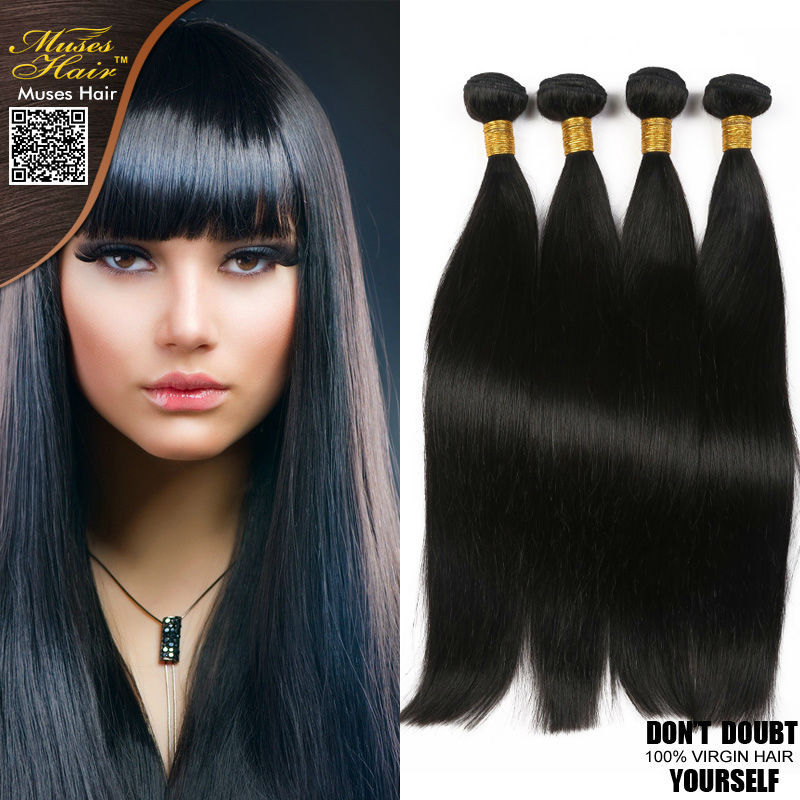 6a Unprocessed Malaysian Straight Virgin Human Hair Extensions Weft