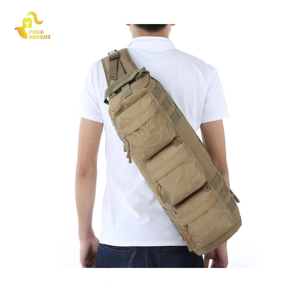 Free Knight Molle Bag Assault Pack Sling Shoulder Camo Backpack Large Tactical Military Bag for Outdoor Climbing Hiking Hunting lqarmy 3 day expandable backpack with waist pack large rucksack tactical backpack molle assault bag for day hiking tan