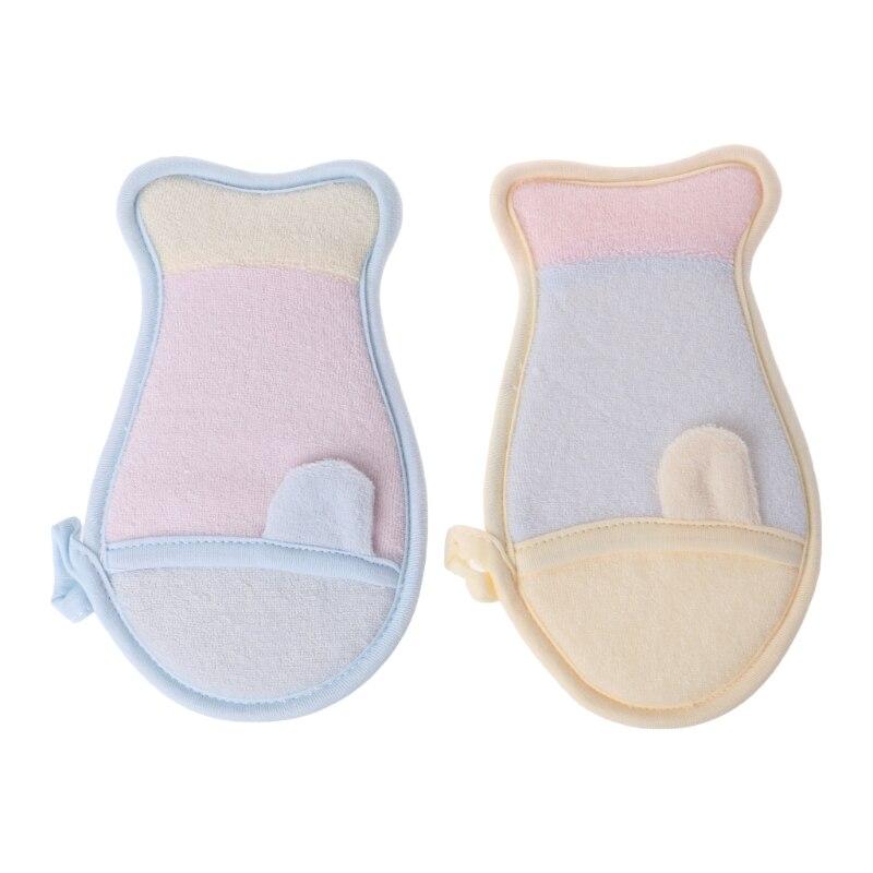Baby Shower Sponge Brush Bathtub Scrubber Bath Rub Body Cute Newborn Wash Clean