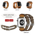Fashion Leather Strap for Apple Watch Band Cuff Bracelet Leather Band With Connector Adapter