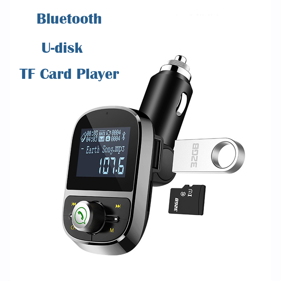 HY92 Wireless Bluetooth Car MP3 Player 3.1A Dual USB Hands Free Car Kit Charger FM Transmitter Handsfree Call Support TF