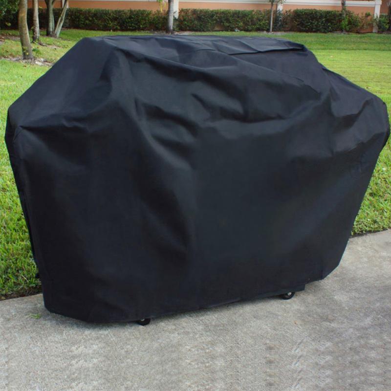 145*61*117CM Black Waterproof Bbq Cover Outdoor Rain
