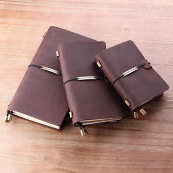 100% Genuine Leather Traveler\'S Notebook Diary Journal Pocket Vintage Leather Travel Vintage Cowhide Gift Handmad Notebook - DISCOUNT ITEM  30 OFF Education & Office Supplies