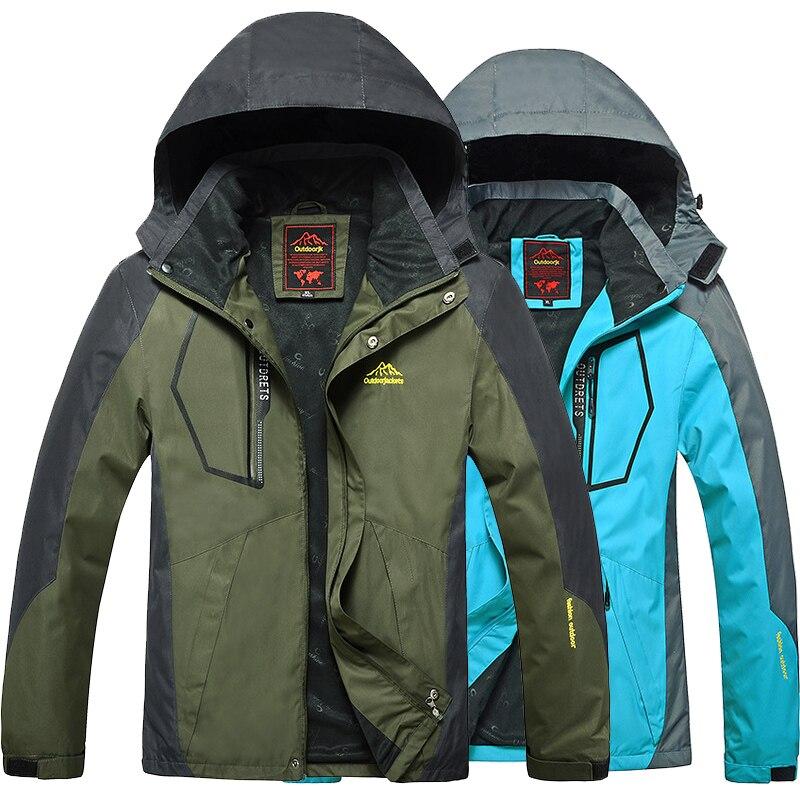 L-8XL Autumn Men Outdoor Waterproof Jacket Camping Hiking Jackets Hunting Climbing WindStopper Rain Fishing Sport Windbreaker