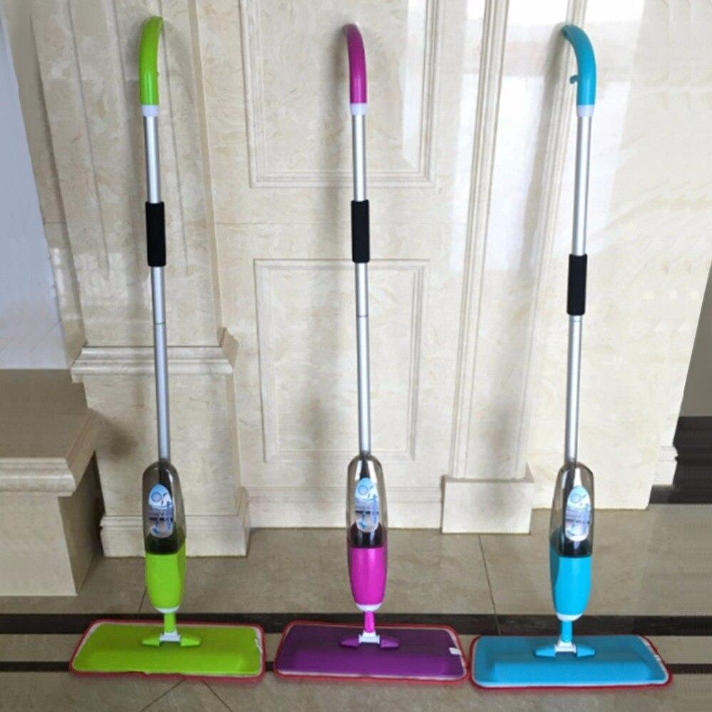 3 цвета распыления воды плоского мопа одной рукой операционной длинной ручкой товары для дома Уборка дома Прямая доставка
